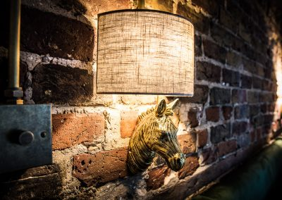 brass zebra light fitting