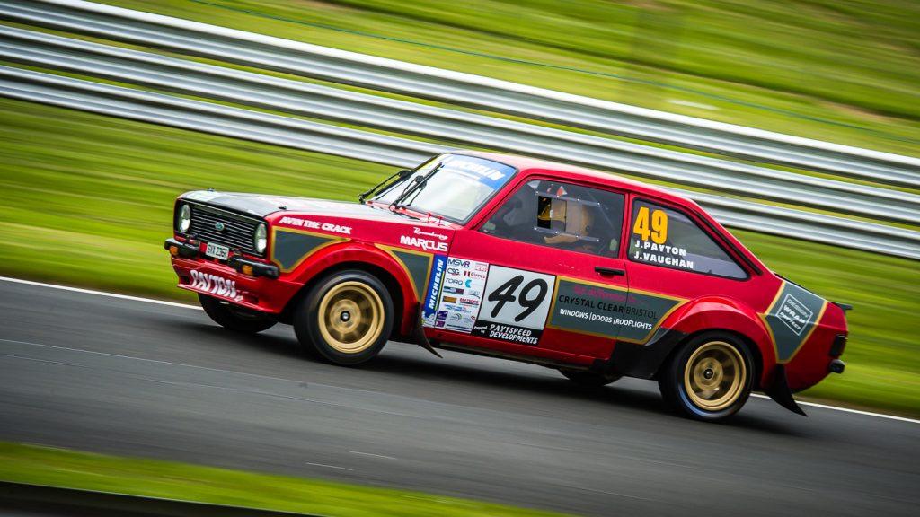 red escort rally car