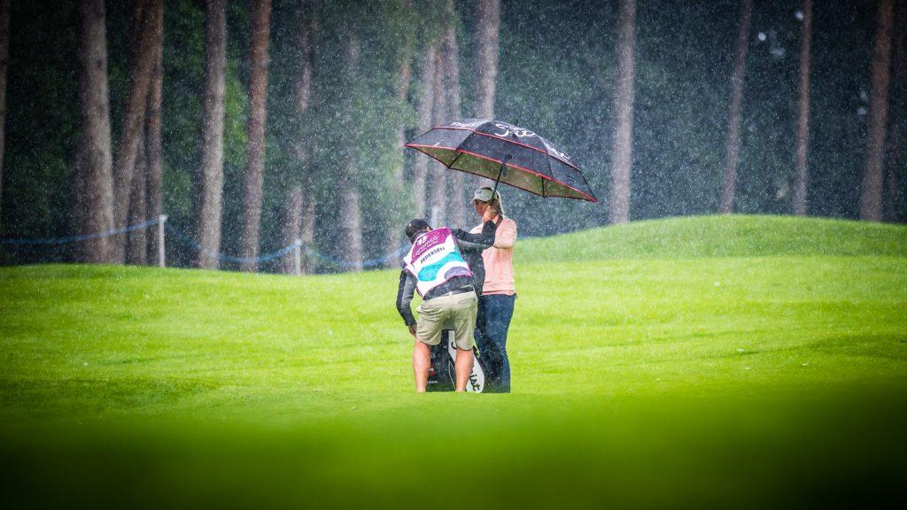 Rain on golf course