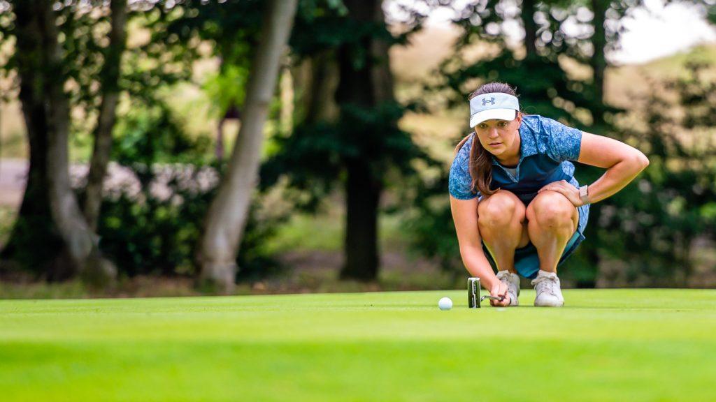 Rachel Drummond lines up a putt
