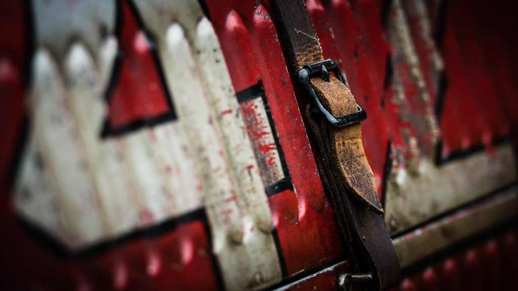 red car leather strap