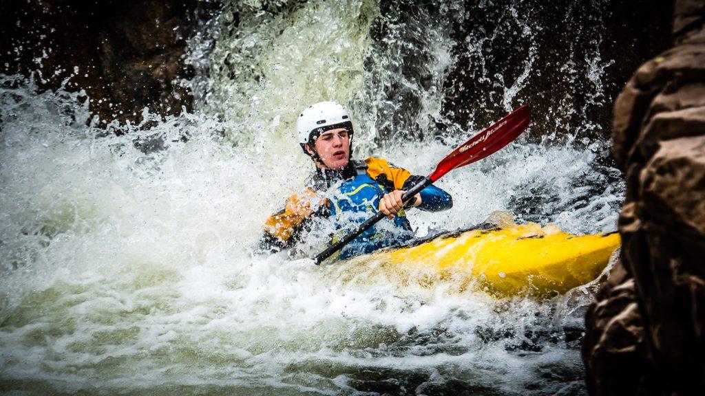 White water kayaking in Glen Etive