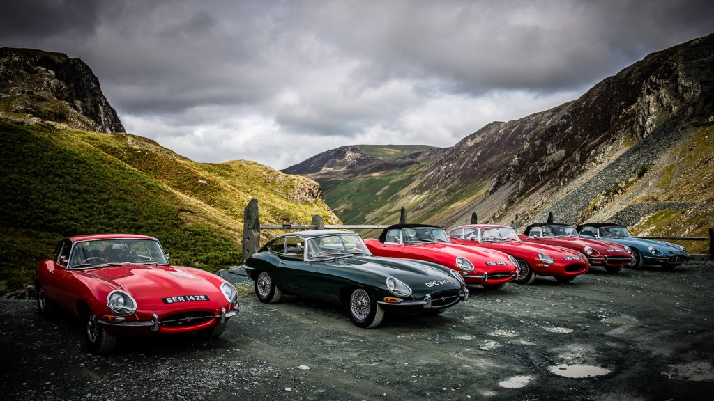 Jaguar E-Types at Honiston Pass
